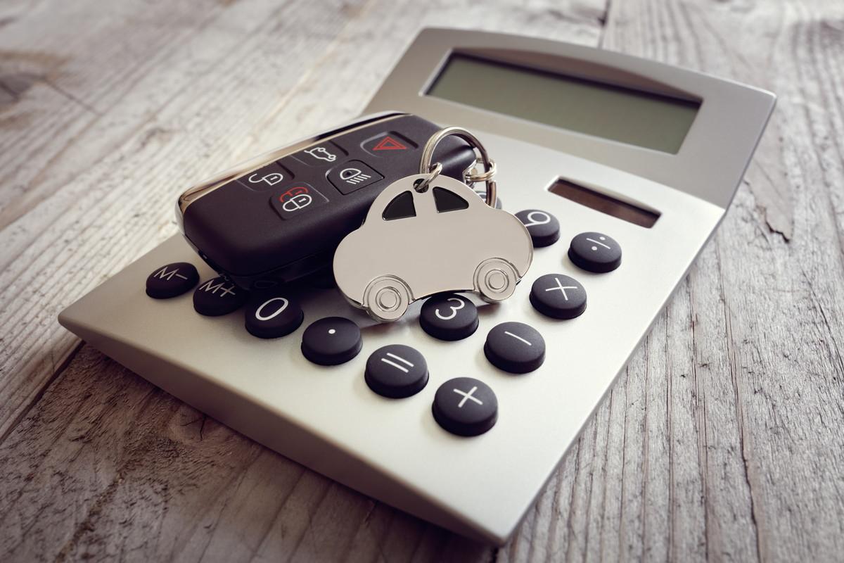 電卓と車のカギ